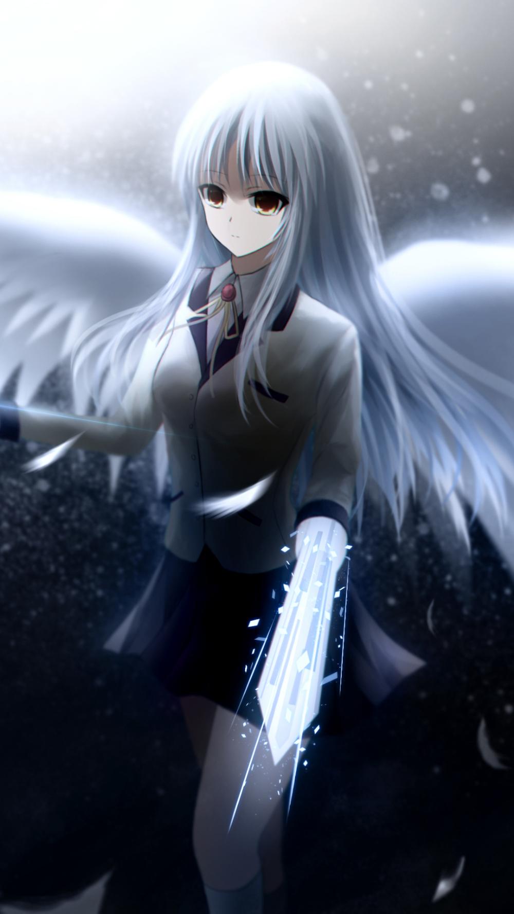 Anime Angel Beats Kanade Tachibana 1080x1920 Mobile Wallpaper