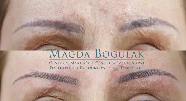 This lady was unhappy with her permanent make-up and she cames to to Magdalena Bogulak, one of our licensees in Poland. Here you can see the before and after picture of a correction with the LONG-TIME-LINER ® Conture® make-up method!