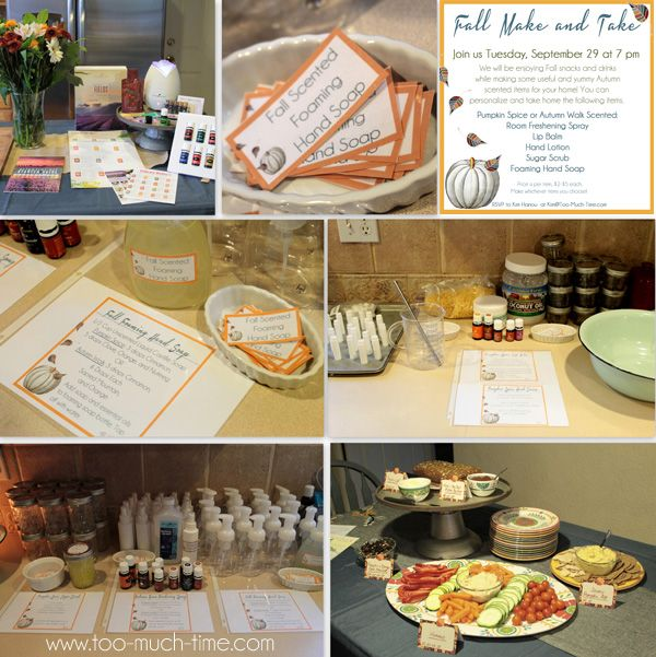 Young Living Fall Make And Take Free Printables And Recipes