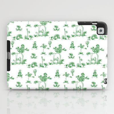 Green Toile Unicorn iPad Case by That's So Unicorny - $60.00