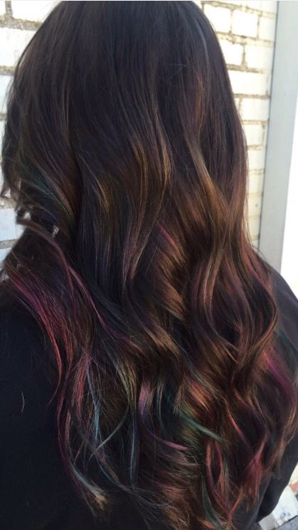 rainbow hair hairstyles oil