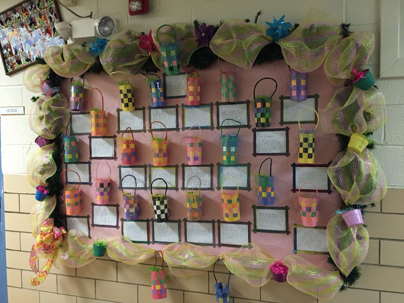 Easter Bulletin For My Second Grade Class At Df Huddle