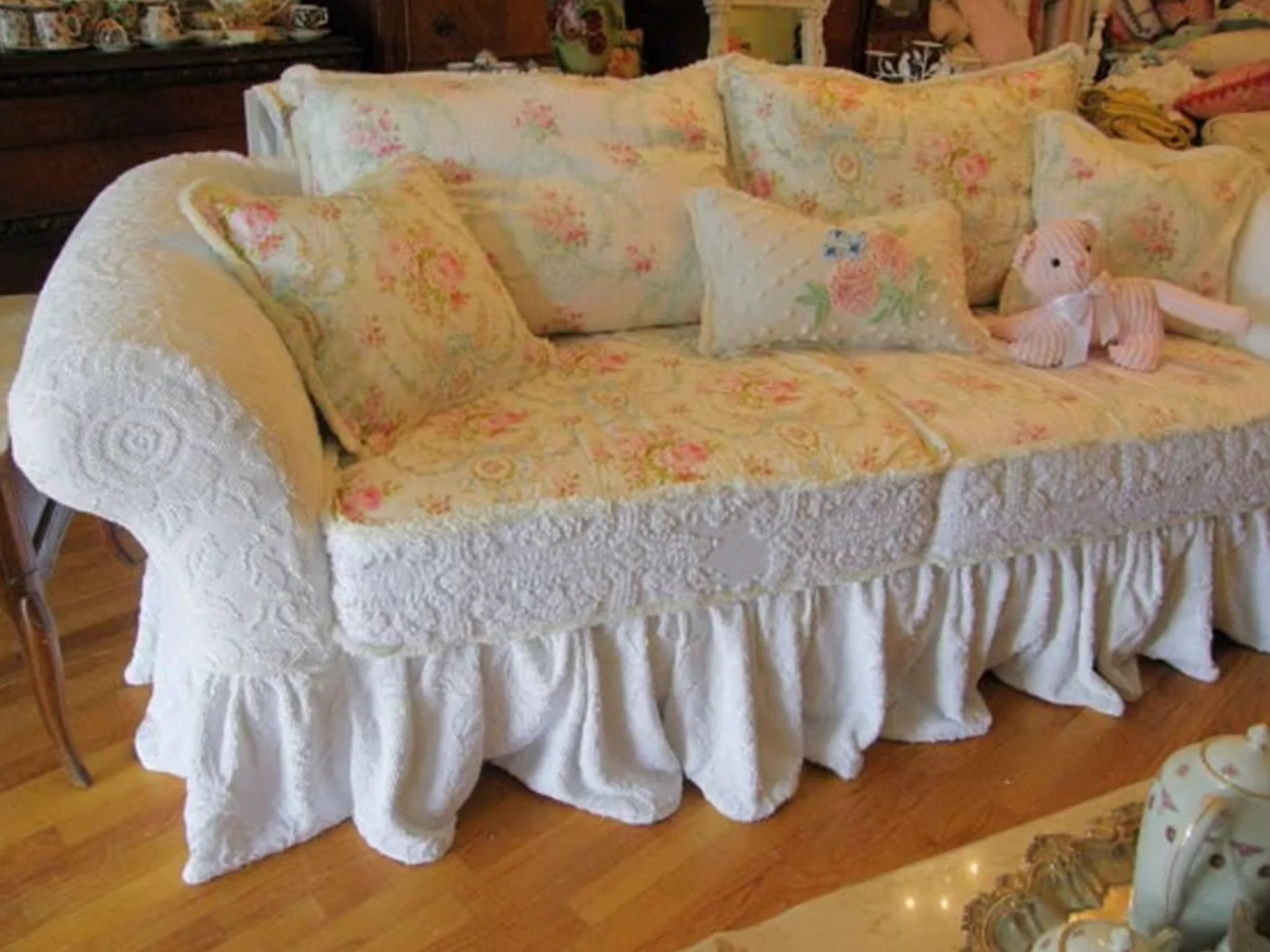 pin by debbi querbach on ideas for the house pinterest shabby rh pinterest co uk shabby chic armchair slipcover simply shabby chic slipcovers couches