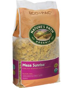 Nature's Path Mesa Sunrise® Flakes - ECO PAC | 26.4 oz. bag | Our unique gluten-free and wheat-free medley of Indian corn, flax, and amaranth blended into crunchy, golden cereal flakes and naturally sweetened. $6.67 / 26.4oz.