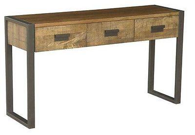 Metal Hall Table lee collett collett - new rustic bondi mango fruit wood hall table