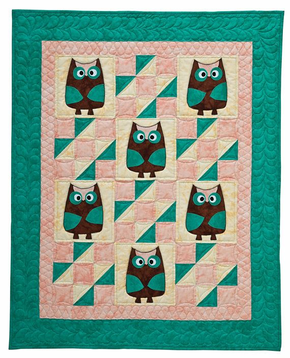 Ollie Owl Animal Baby Sewing Quilt PATTERN | Quilts for children ... : owl quilt patterns baby - Adamdwight.com