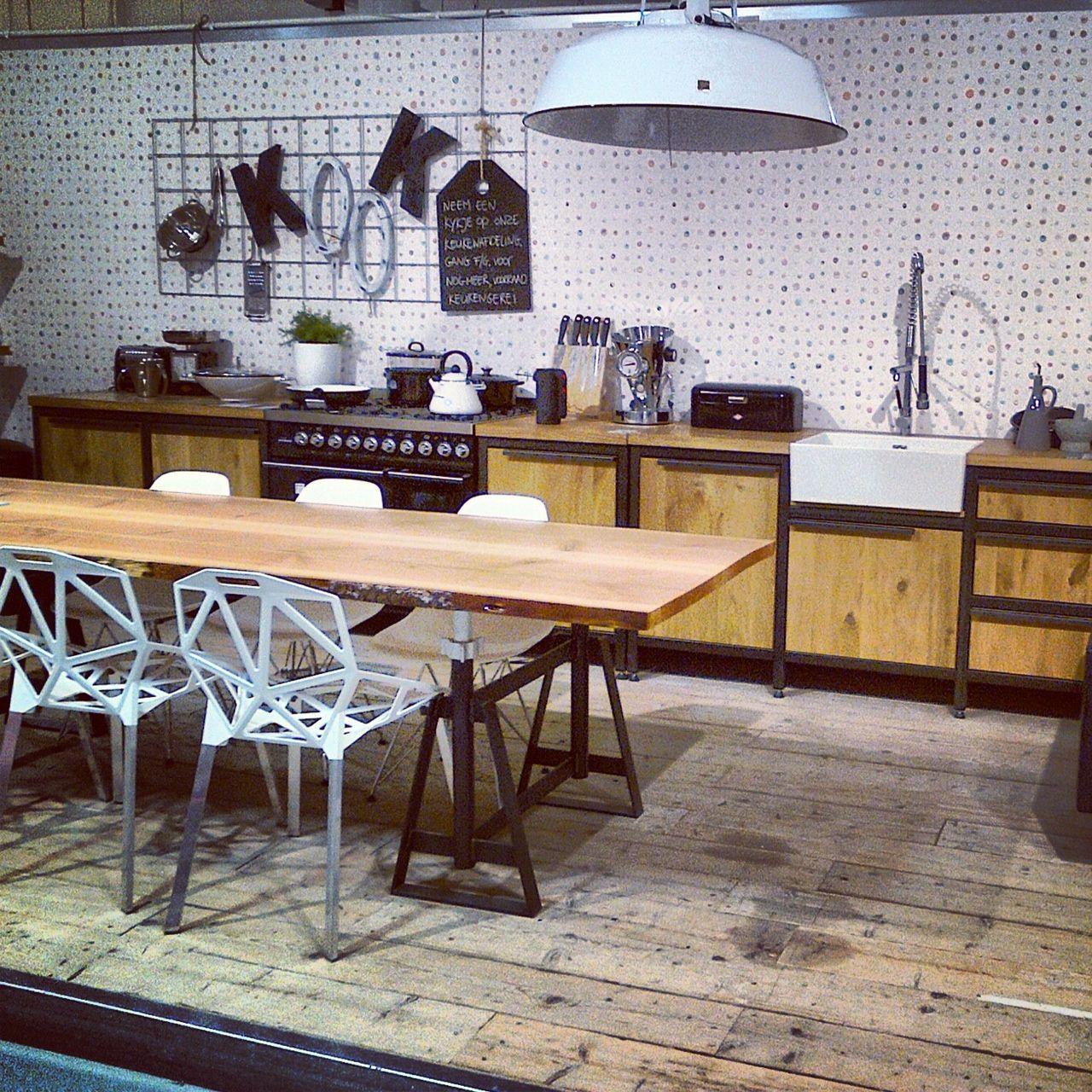 Vm design keuken tafel schraag tree loods5 zaandam vm design inspiration pinterest - Tafel design keuken ...