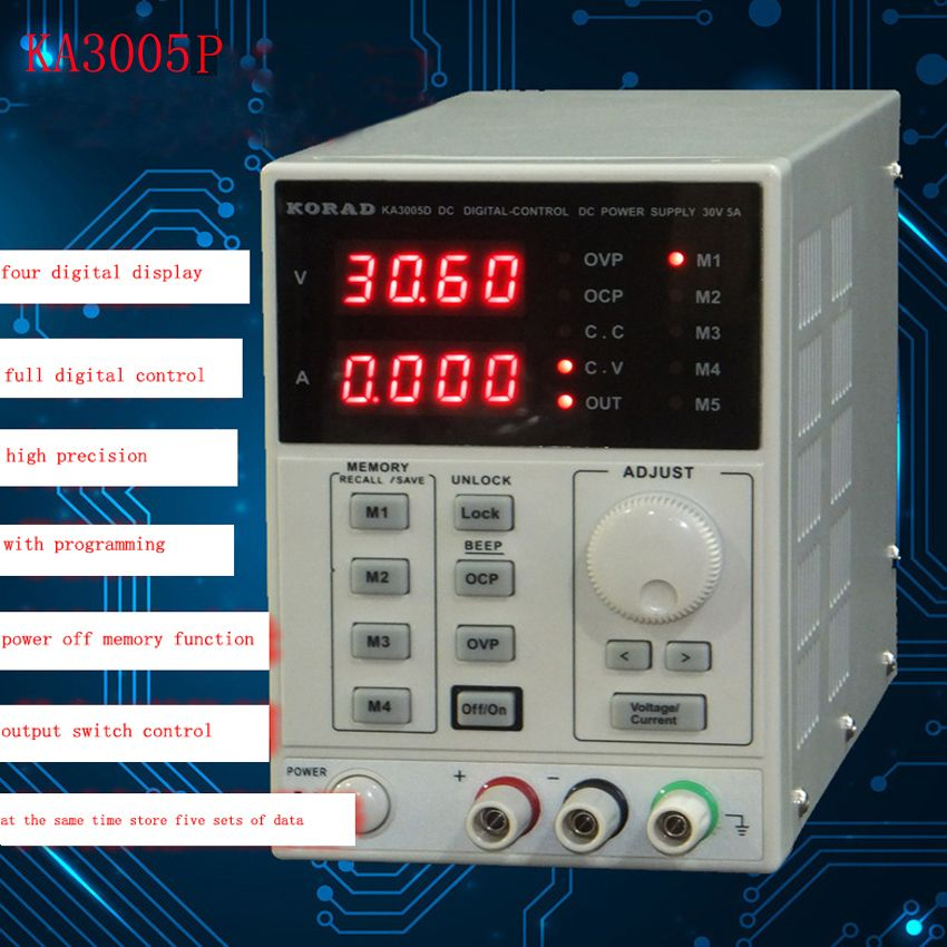 KA3005P -Programmable Precision Adjustable 30V, 5A DC Linear Power