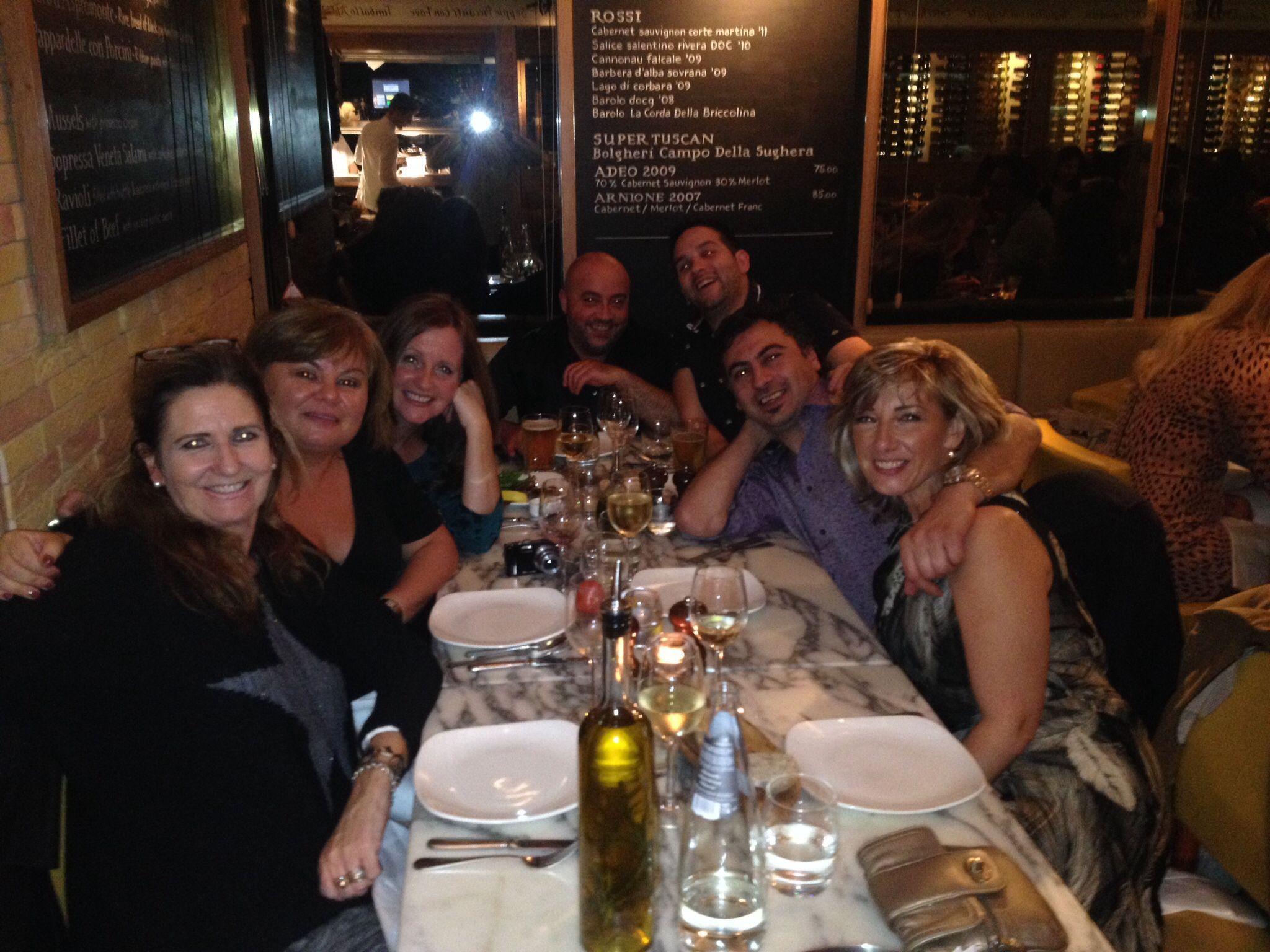 Carm, Raf, Jane, Sonya, Sacha, Tony and me at Cicchetti . 19th October 2013