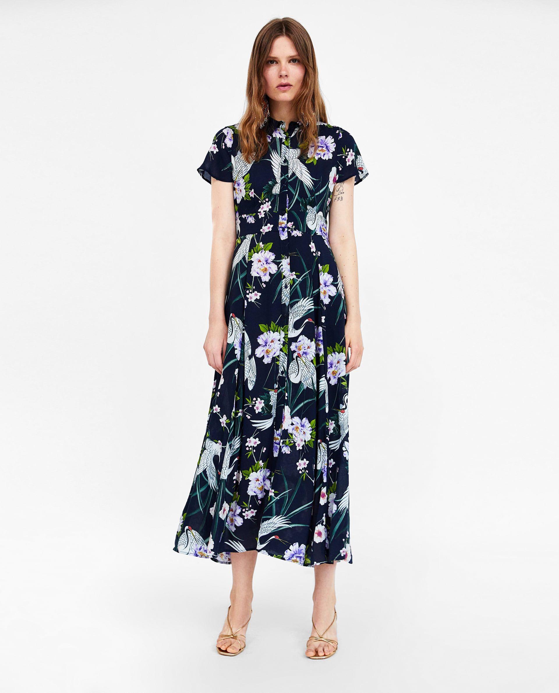 b5e061f21eb Image 1 of LONG FLORAL PRINT DRESS from Zara