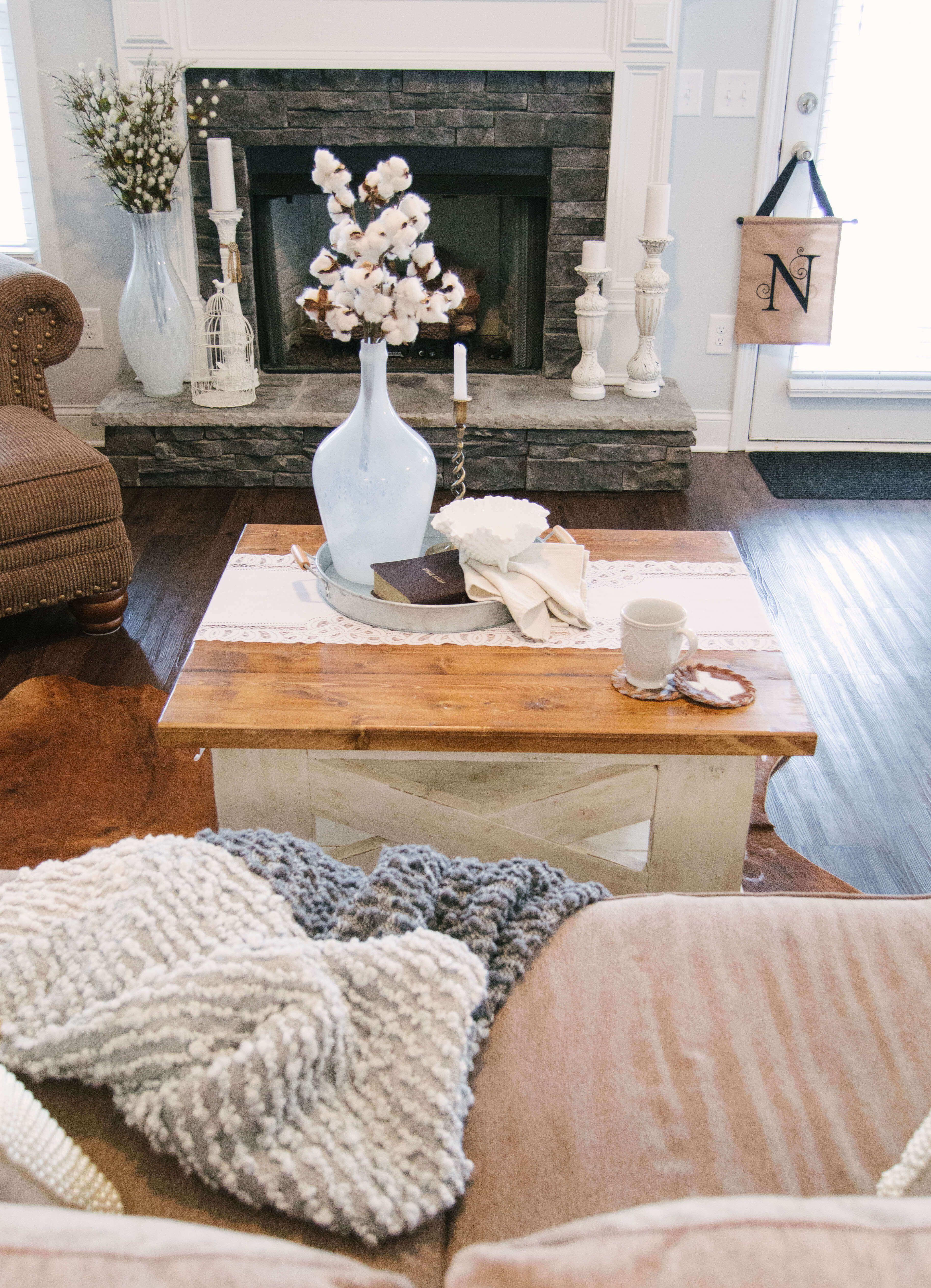 Handcrafted Farmhouse Coffee Table Diy Farmhouse Farmhouse Style