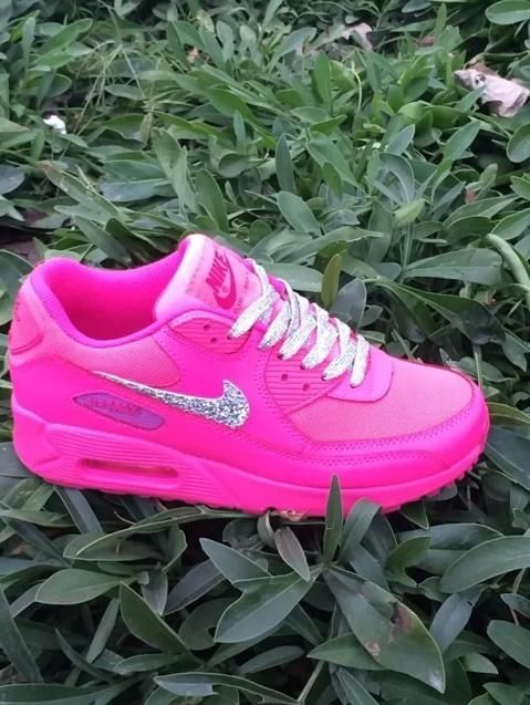 on sale f8087 68777 Nike Air Max 90 Womens Shoes Pink Silver White Hot New 0