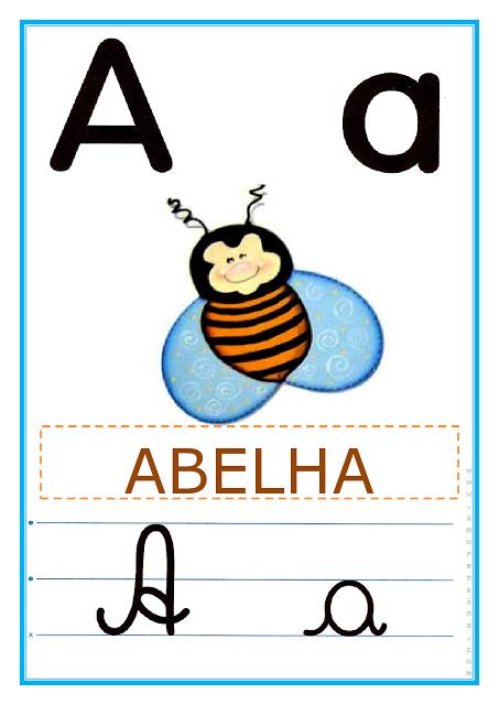 Profª Ivani Ferreira Alfabeto Ilustrado Colorido 4 Letras