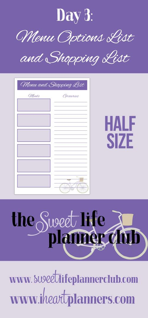 Free Printable: Grocery List and Meal Planner