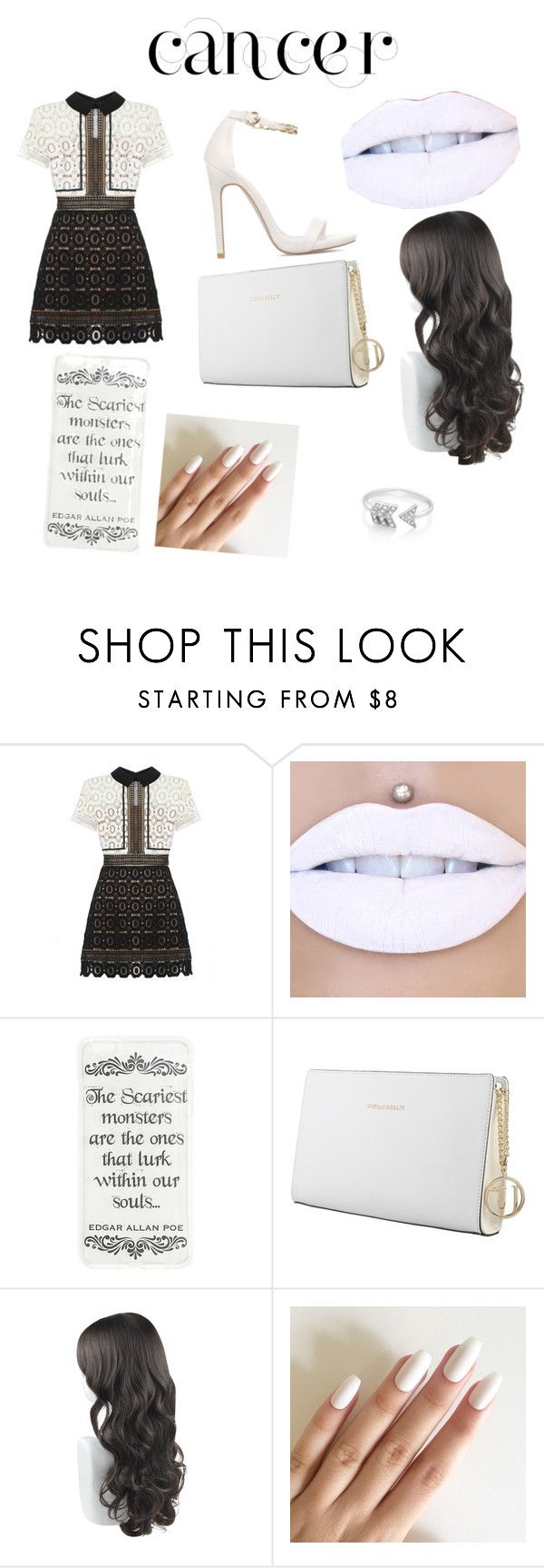 """cancer"" by arionaoliver ❤ liked on Polyvore featuring self-portrait, Trussardi, EF Collection, fashionhoroscope and stylehoroscope"