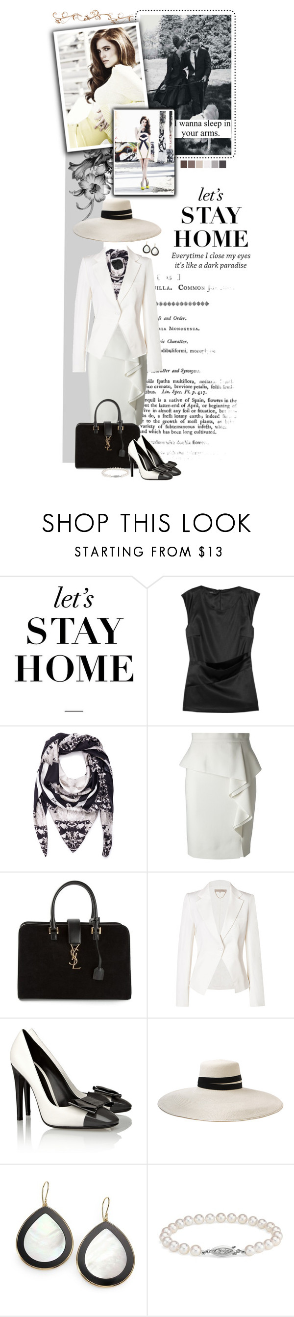 """Dark Paradise"" by alexvishnevskaya ❤ liked on Polyvore featuring Etro, St. Piece, Emilio Pucci, Yves Saint Laurent, Vanessa Bruno, Bottega Veneta, Gigi Burris Millinery, Seed Design, Ippolita and Blue Nile"