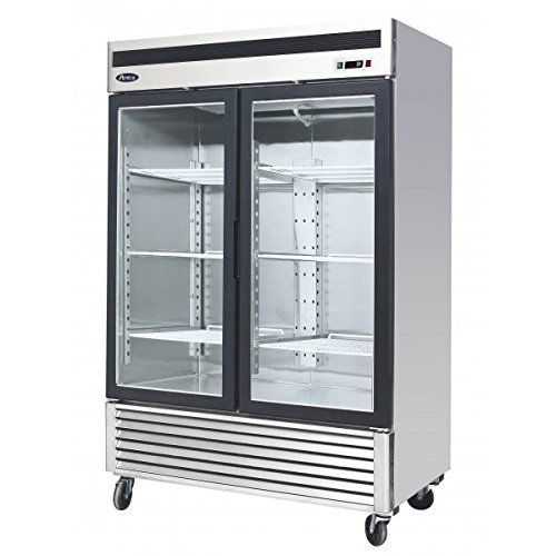 545 2 Door Double Door Upright Stainless Steel Glass Window Reach In Freezer Merchandiser Display Case Mc Glass Door Refrigerator Double Glass Doors Glass Door
