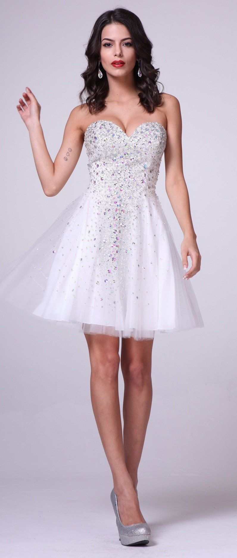 Short aline cocktail or party dress cdj products