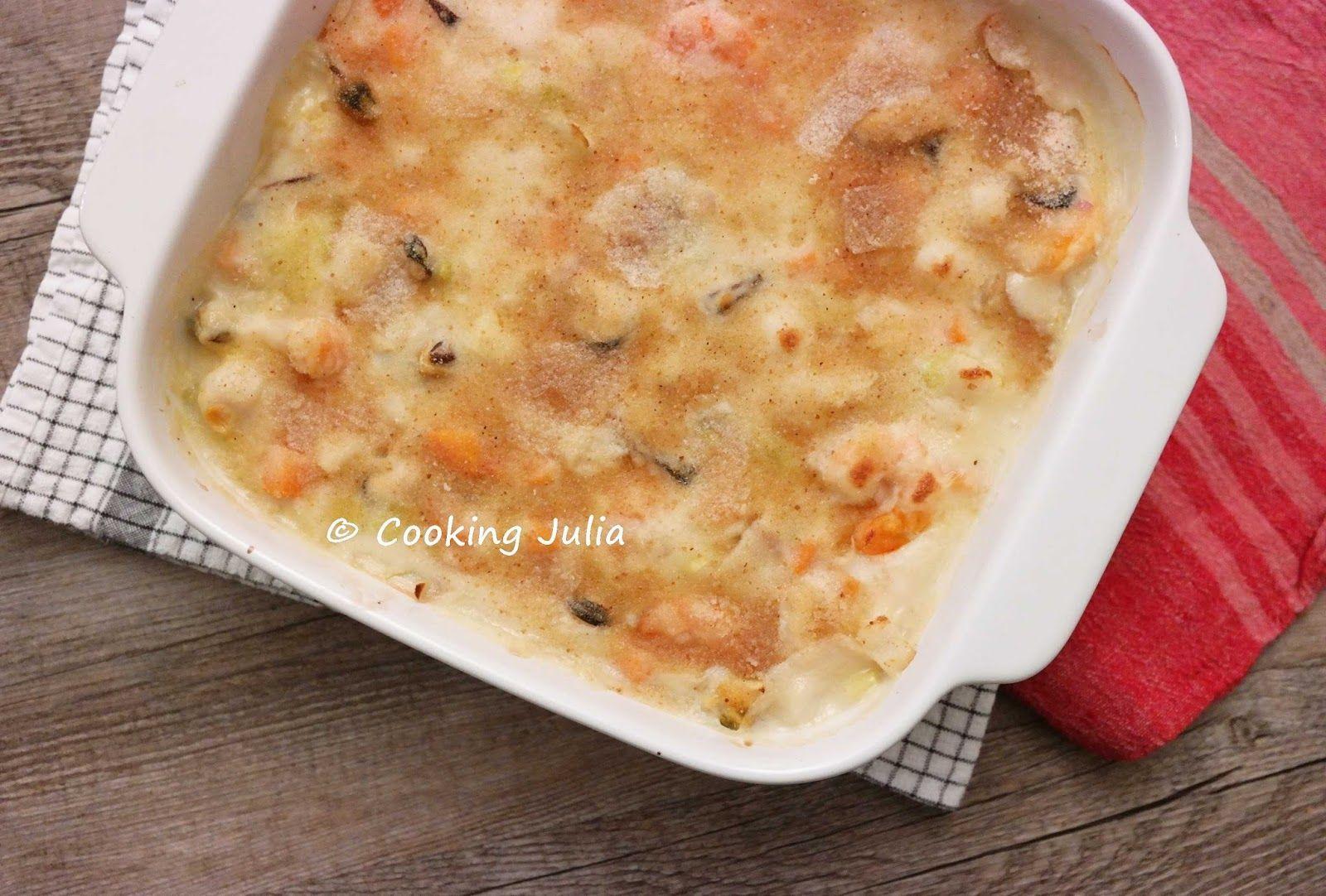 COOKING JULIA: GRATIN DE FRUITS DE MER