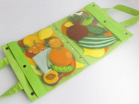 Photo of Felt vegetables, Fruit set, Fruit and vegetables toys, Felt play set, Quiet busy book, Soft felt food, Felt garden, Soft food, Quiet toy