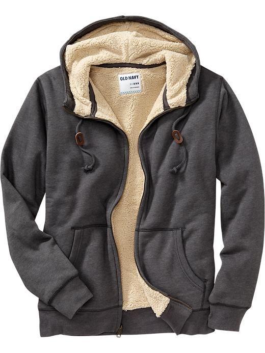 $40 Old Navy | Men's Sherpa-Lined Zip Hoodies | Hoody Whoooooo ...