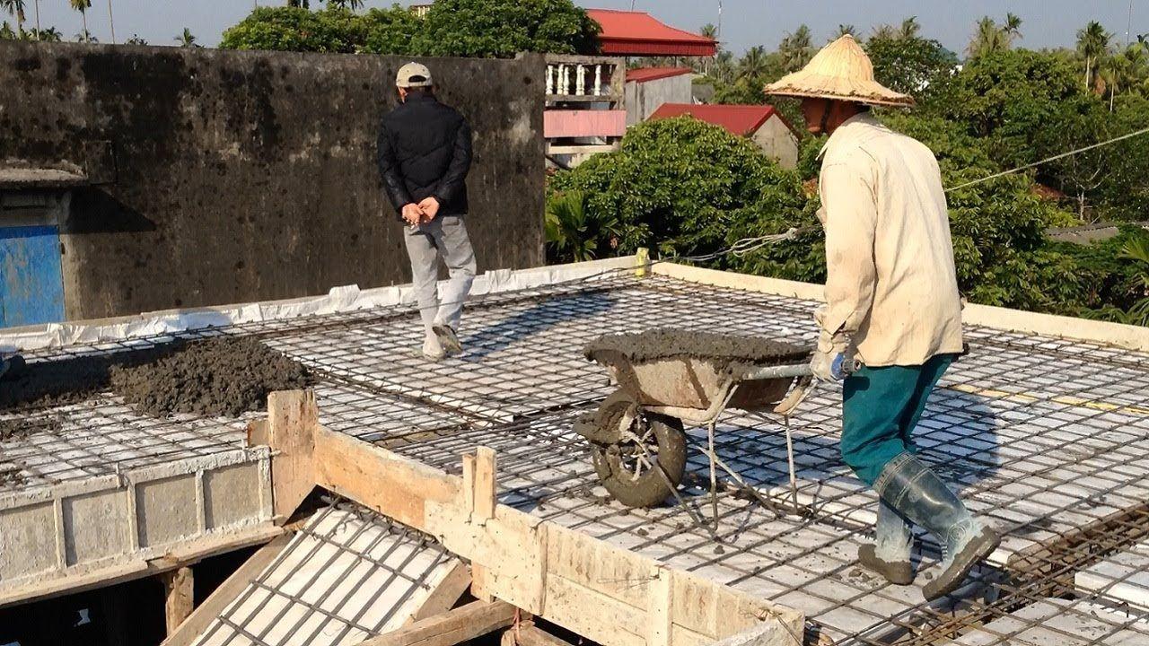 House Construction Roof Construction With Concrete Plant Excellent Roof Construction Techniques Youtube Roof Construction Home Construction Roof Plants