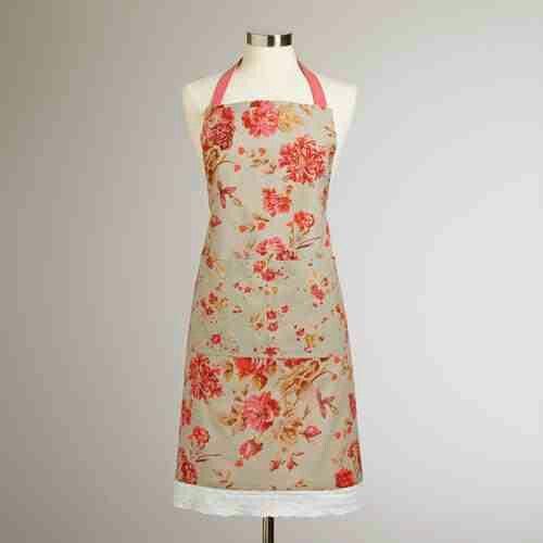 World Market apron with lace trim