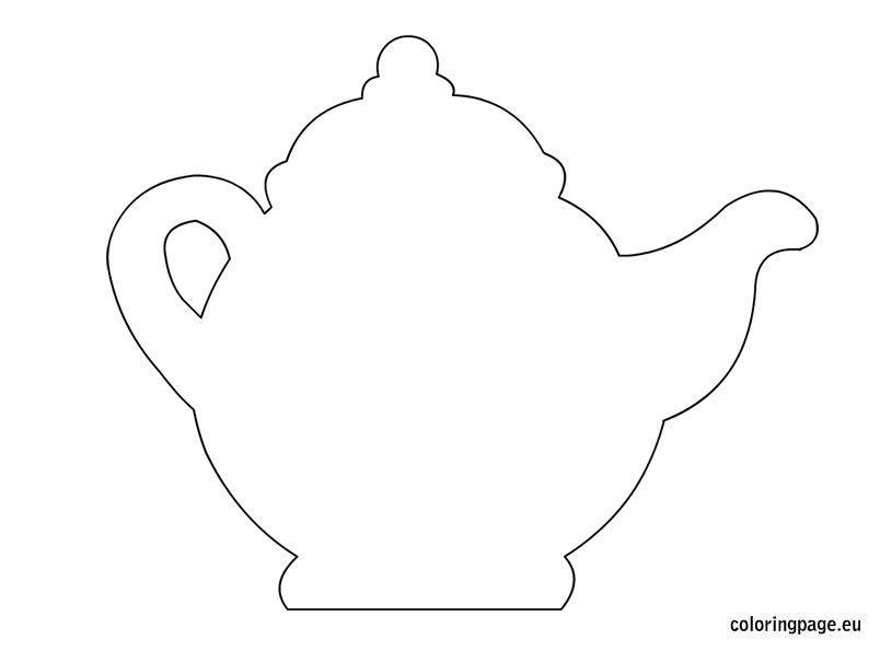 picture relating to Teapot Template Printable titled Teapot template Templates Tea pots, Teapot crafts, Paper pot