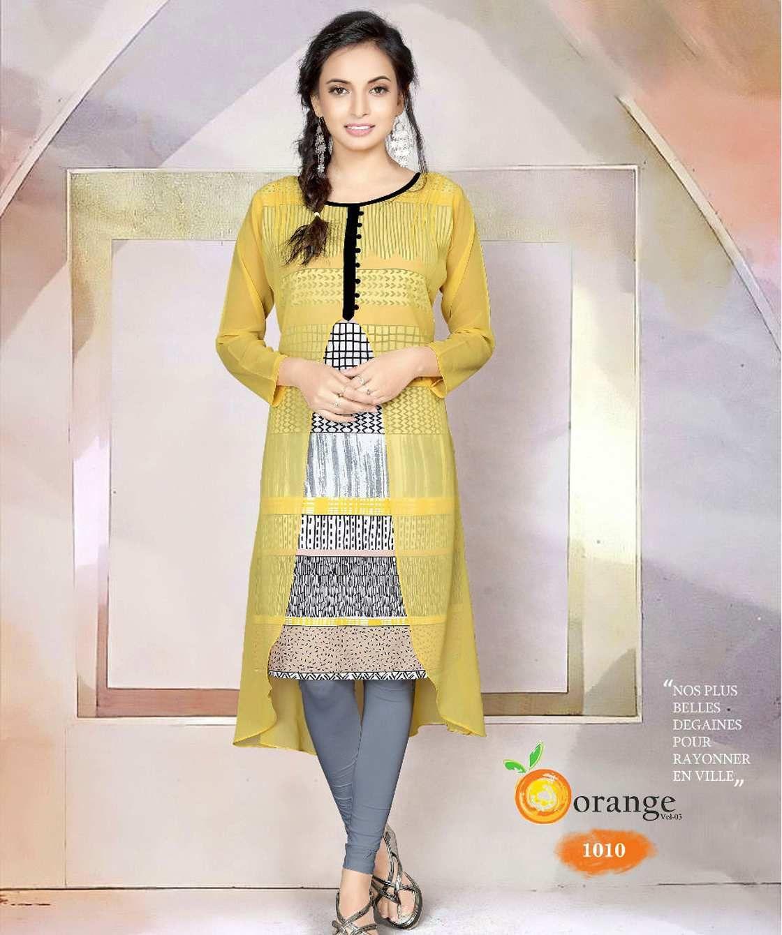 Gorgeous Designer Yellow Kurti