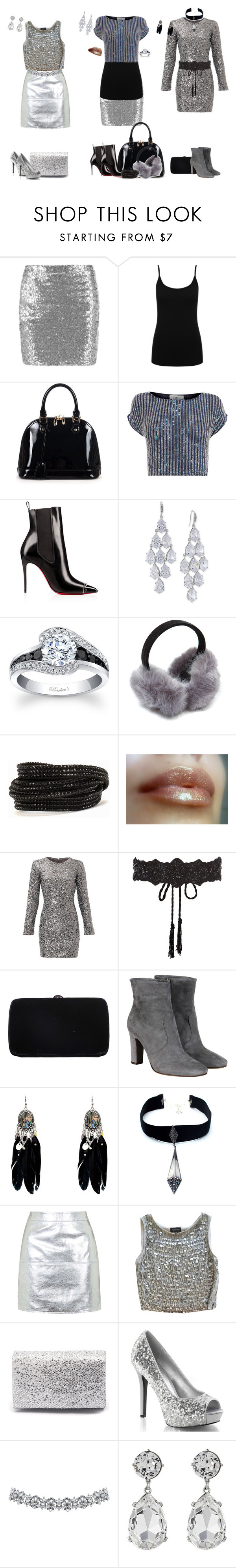 """silver styles"" by svetlozeme ❤ liked on Polyvore featuring M&Co, Relaxfeel, Coast, Carolee, Pieces, Slate & Willow, Accessorize, Sergio Rossi, L'Autre Chose and Child Of Wild"