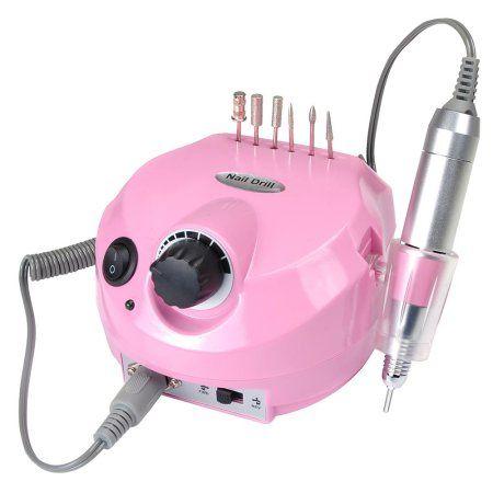 Electric Acrylic Nail Drill Manicure Pedicure Kit Pedal File Buffer ...