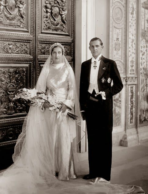 HH.RR.HH. The Infant Juan of Spain and Princess Maria de las Mercedes of Two Sicilies, later Counts de Barcelona, Wedding (1935)