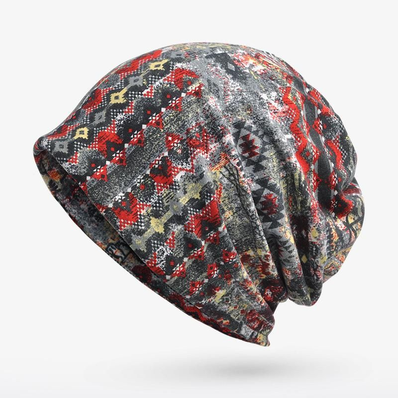 6eaf51d2 Gender: Unisex Style: Casual Pattern Type: Print - Material: Cotton - Beanie  Hat
