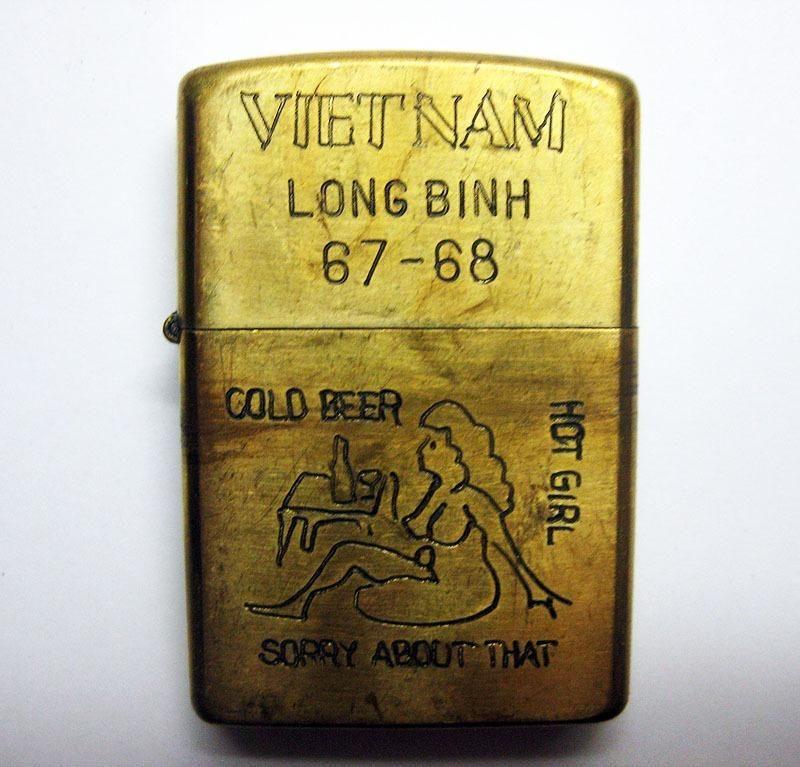 Vintage Vietnam Zippo Lighters Details About Vintage Vietnam War Era Zippo Lighter Long Binh Cold Feuerzeug Rauchen