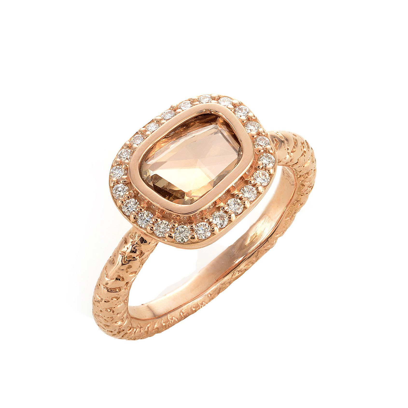 fine rings gold slice ring and diamond pin rose