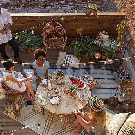 Inspiración Para Decorar Terrazas Y Balcones Rooftop Party