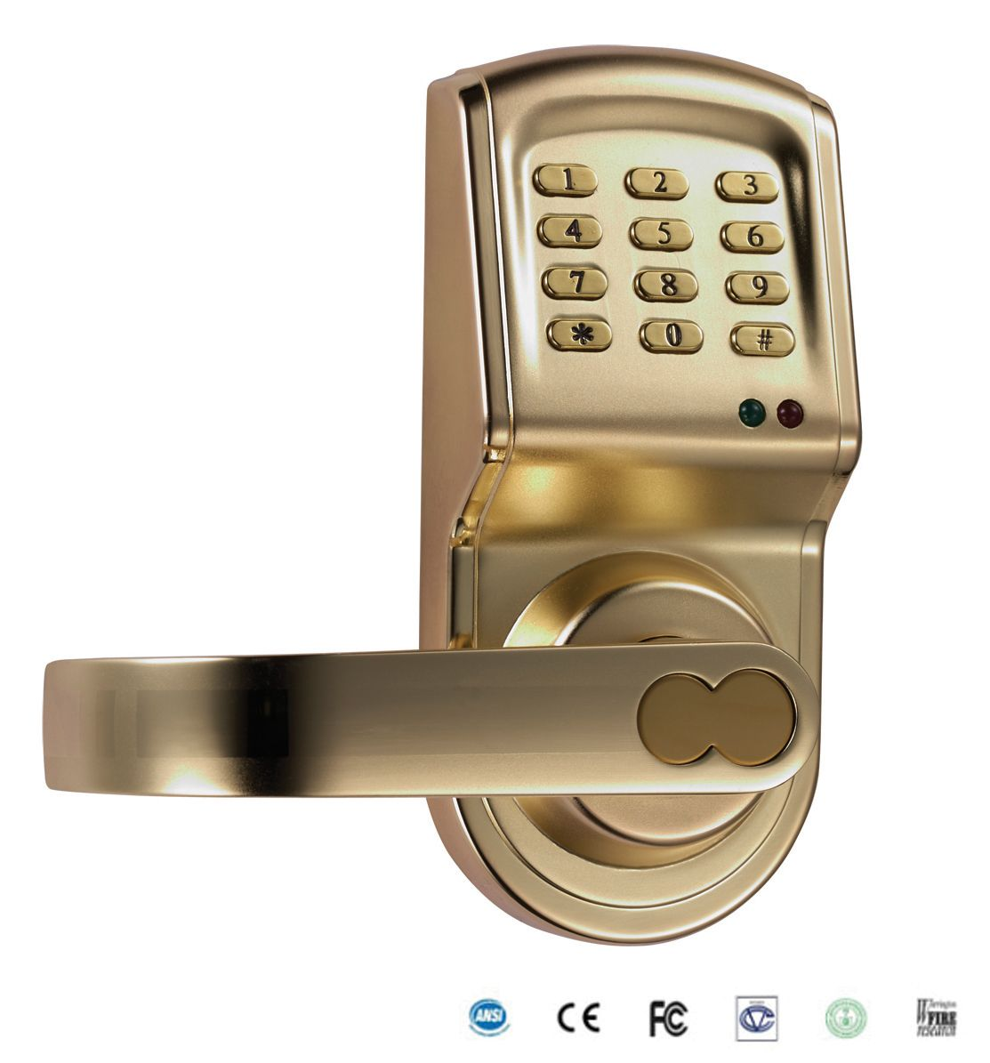 keyless electric keypad door lock reversible handle left or right