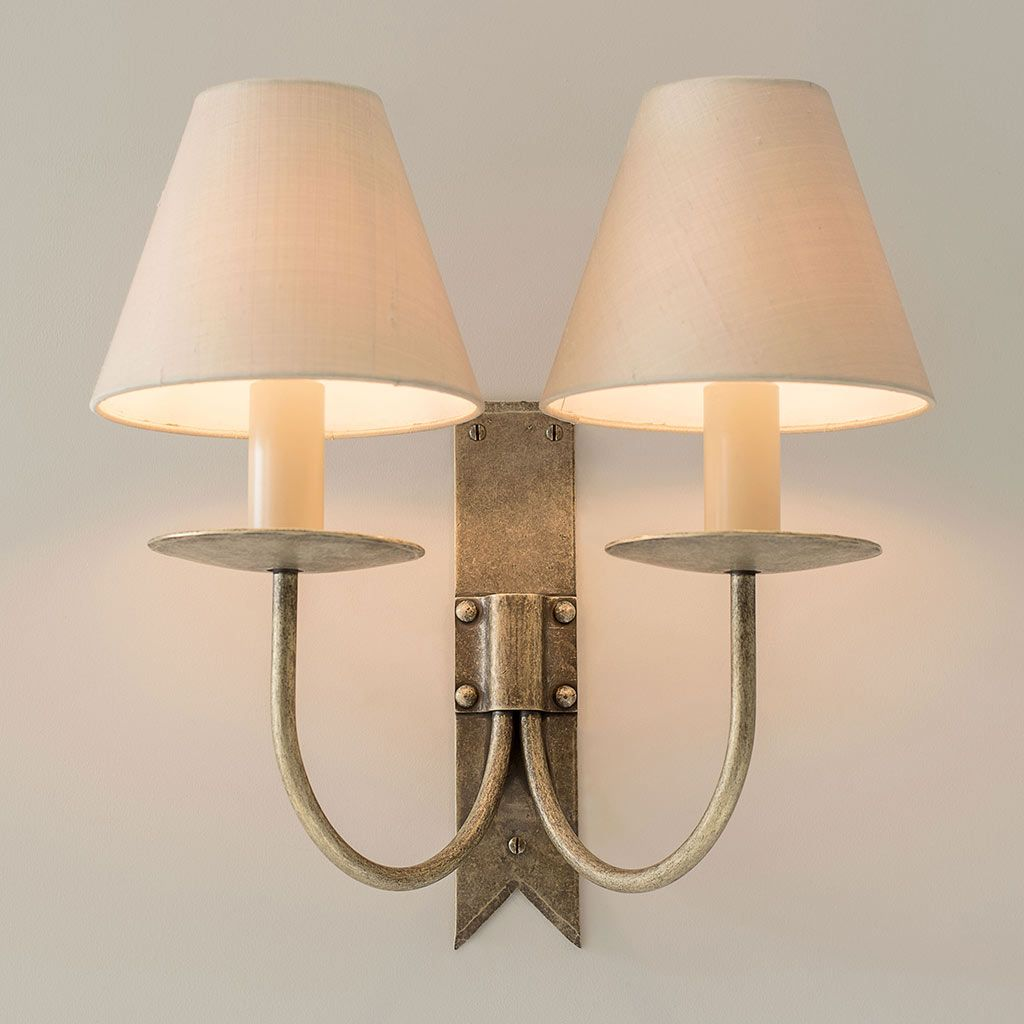 Double Cottage Wall Light In Antiqued Brass Wall Light Fittings