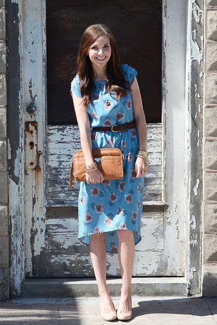 Merricks Art: BOLD FLORALS: High-Low Dress Tutorial