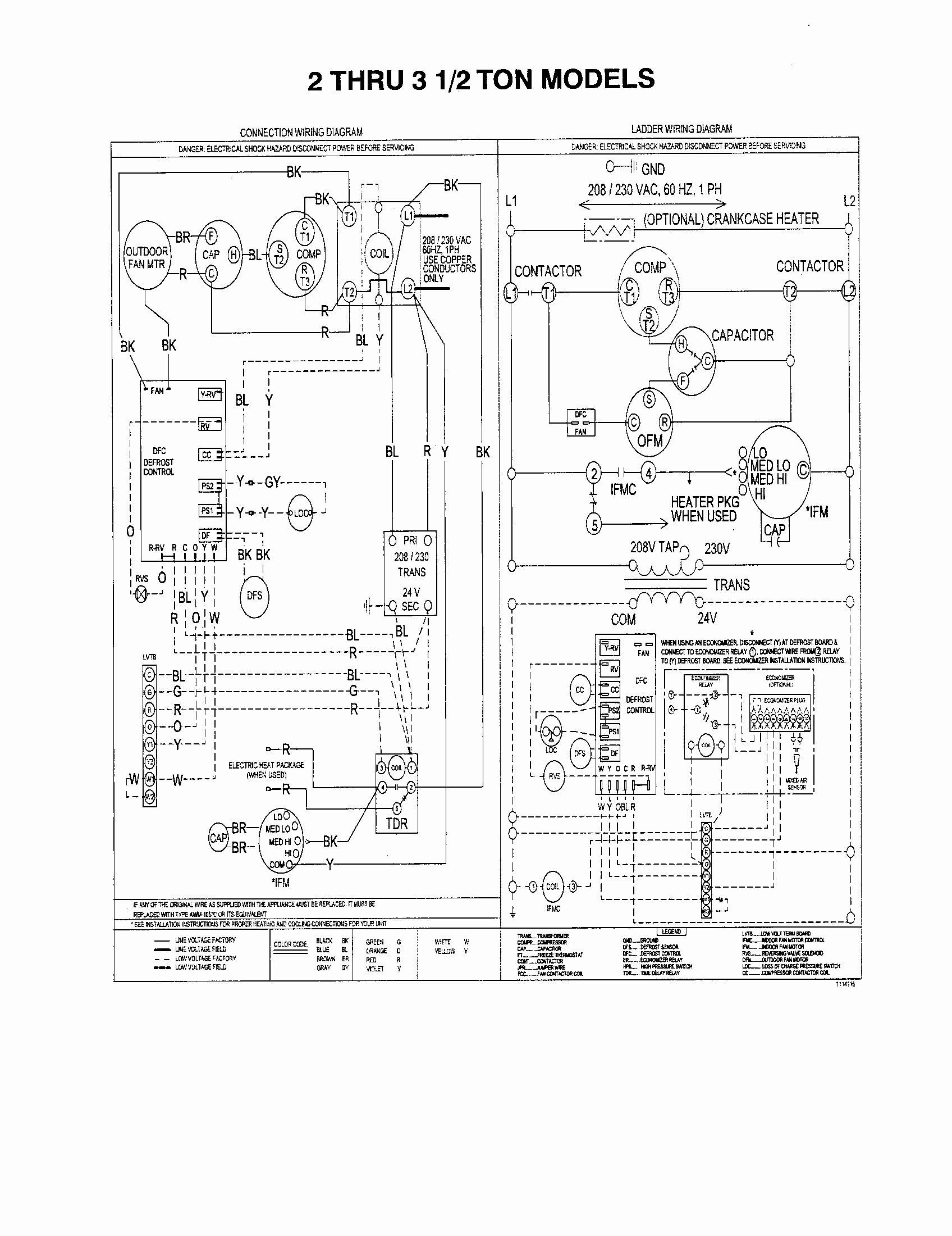 Trane Heat Pump Crankcase Heater Wiring Diagram