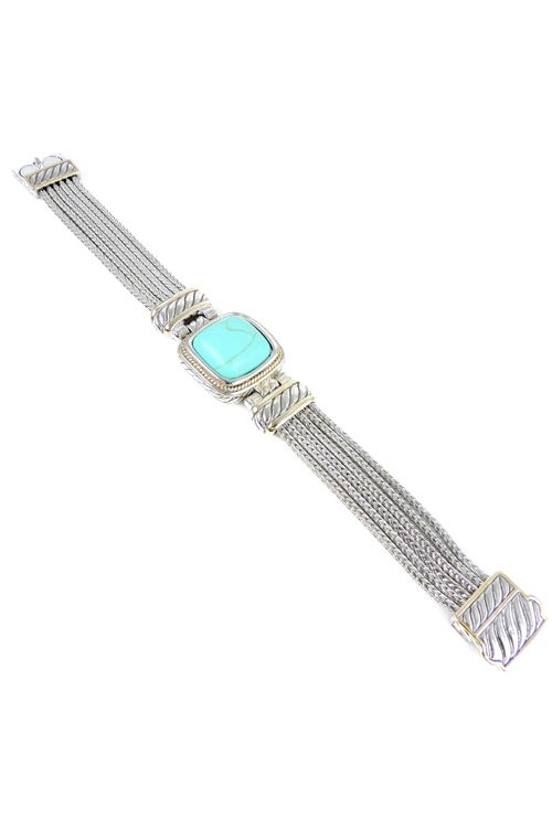 Two Tone Madrid Bracelet in Turquoise