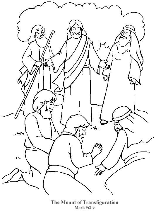 Image result for activity sheets jesus transfiguration | Bible study ...