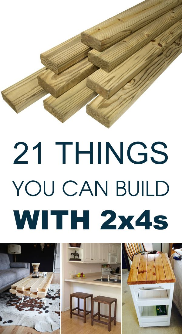 21 Things You Can Build With 2x4s | Carpintería, Carpinteria y Madera