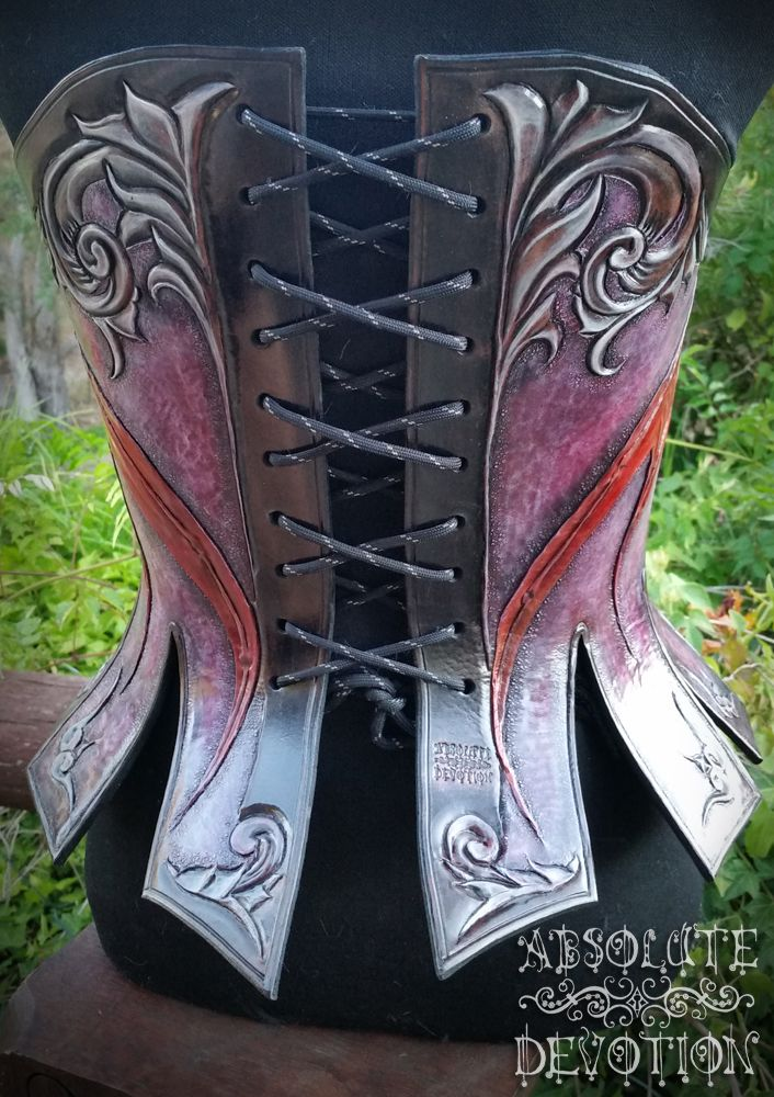91de3937cca Dragon Corset by Absolute Devotion - One of a Kind Hand Tooled Hard Leather  Corset Armor