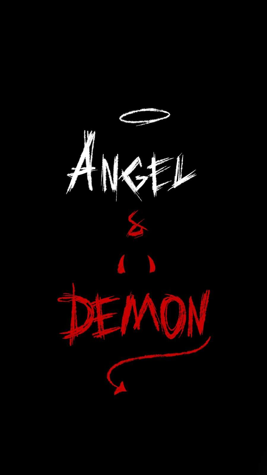 Angel and Demon iPhone Wallpaper - iPhone Wallpapers