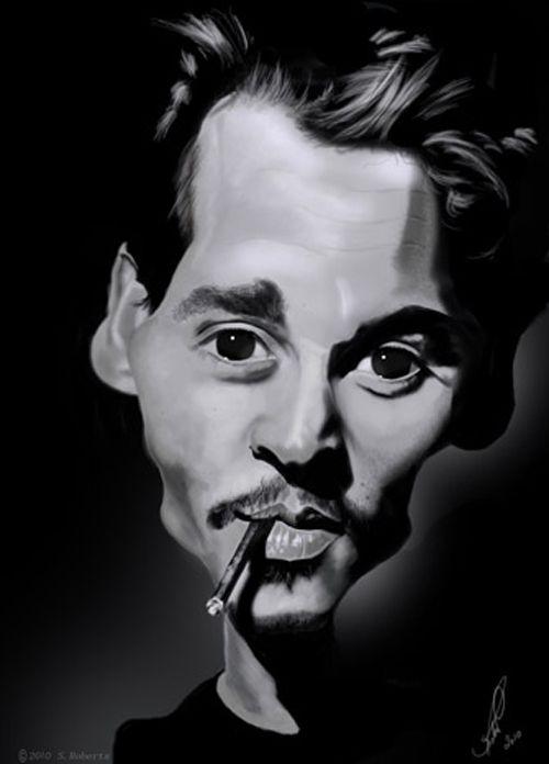 Johnny depp plus lots of good ones caricatures pinterest dessin artiste et drawing - Dessin johnny depp ...