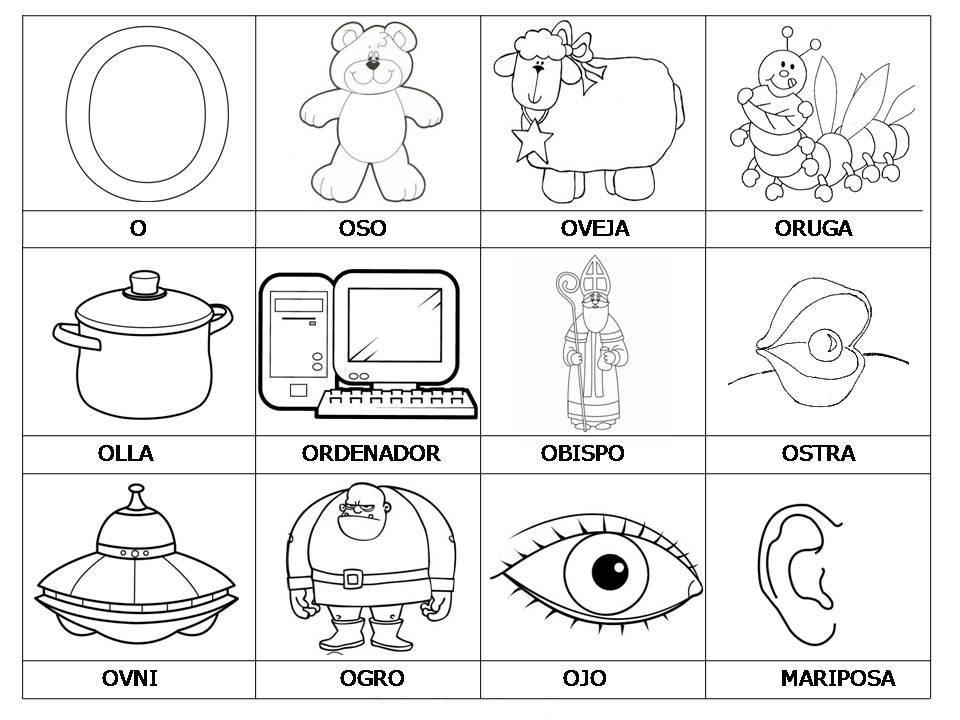 Vocabulario con imágenes para niños. | Vocabulario, Laminas y Para niños