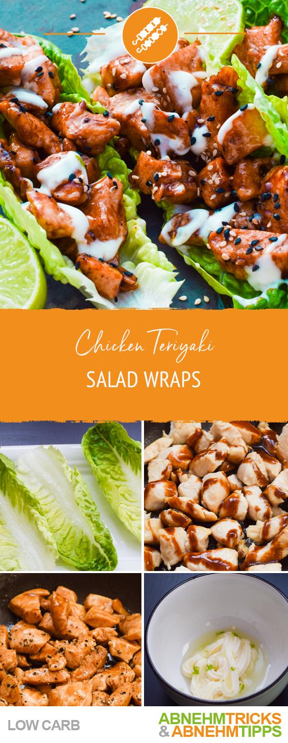 Low Carb Chicken Teriyaki Salad Wraps #recipeforchickenfajitas