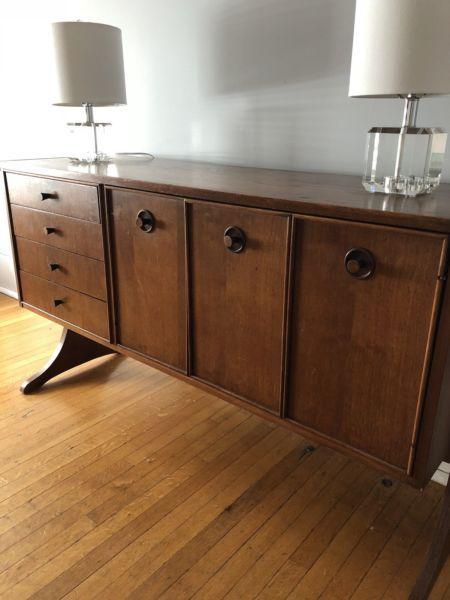 mid century teak sideboard hutches display cabinets brantford
