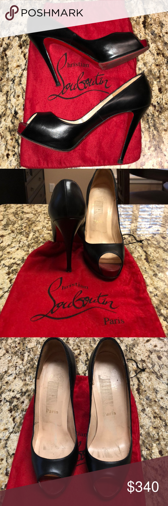 1dcb9961864b 100% Authentic Christian Louboutin Very Prive Heel 100% authentic Christian  Louboutin Very Prive 120